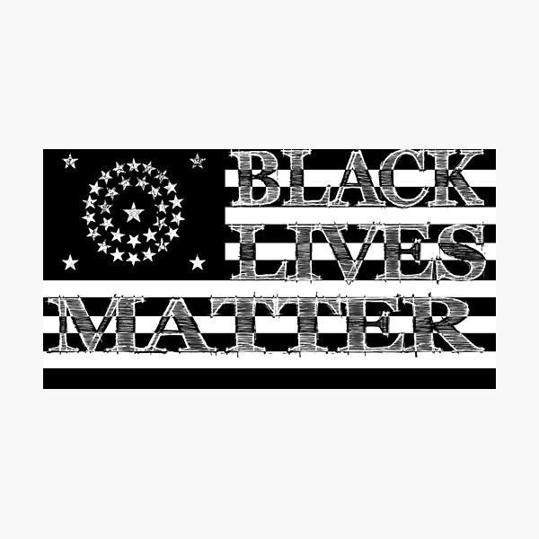 BLM Civil War US Flag (Light) Photographic Print
