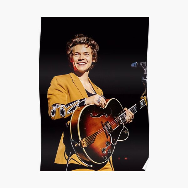 smile brown guitar harry Poster
