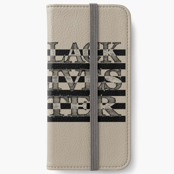 BLM US Flag (Dark) iPhone Wallet