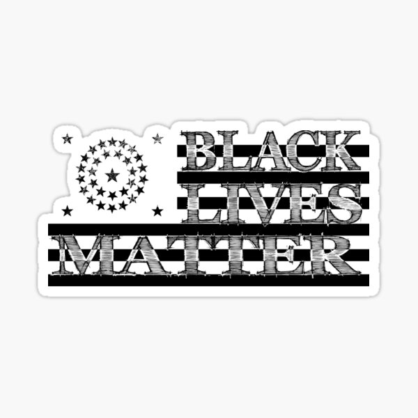 BLM Civil War US Flag (Dark) Sticker