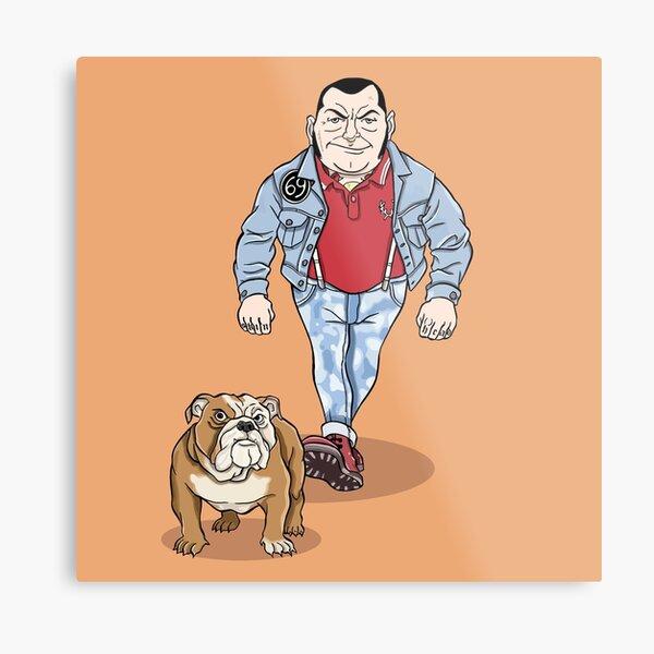 Skinhead Bull Terrier Metal Print
