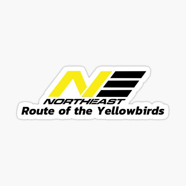 Northeast Airlines Route of the Yellowbirds Sticker