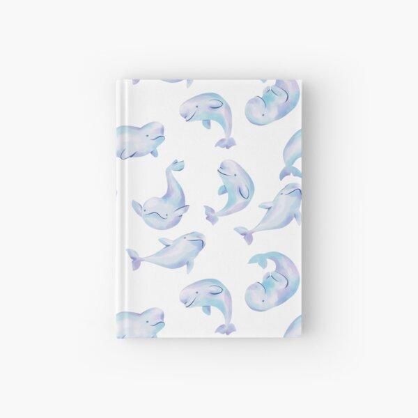 White Arctic Beluga Whale Swimming Pack Hardcover Journal