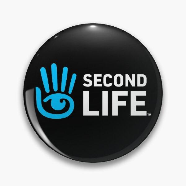 Second Life Logo Pin