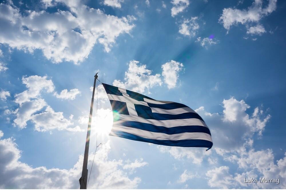 Greece Flag by Luke Murray
