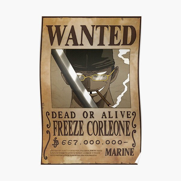 Freeze Corleone Wanted Poster