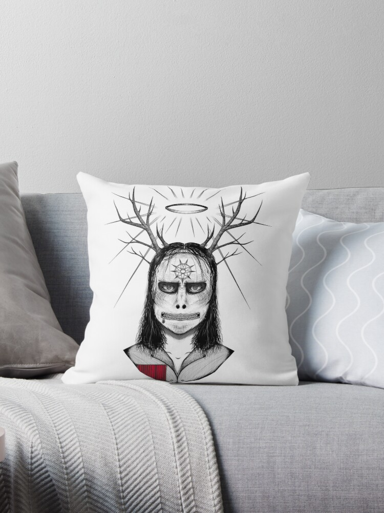 Jay Weinberg Slipknot Throw Pillow By Backroomarts Redbubble