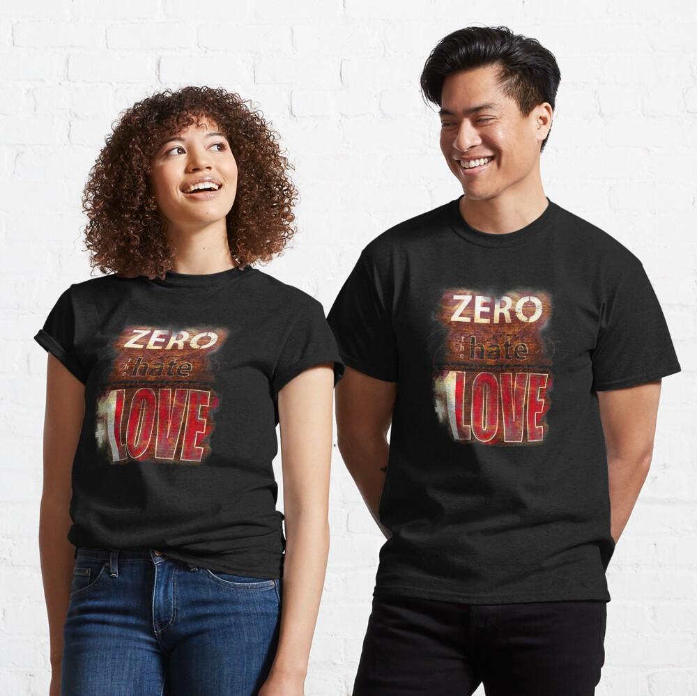 Zero hate +1LOVE Mystery Skulls Classic T-Shirt