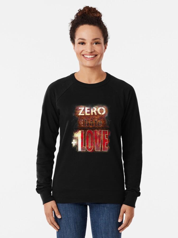 Alternate view of Zero hate +1LOVE Mystery Skulls Lightweight Sweatshirt
