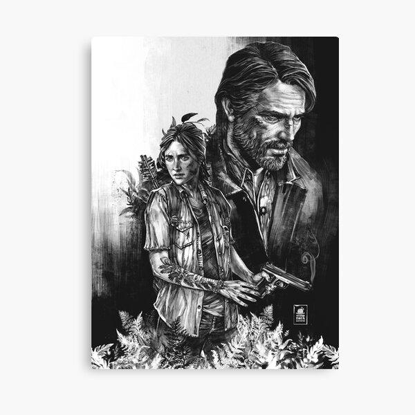 The Last Of Us Part II - Ellie et Joel Impression sur toile