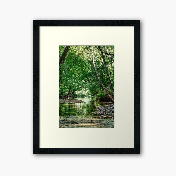 Greenery Water Escape Framed Art Print