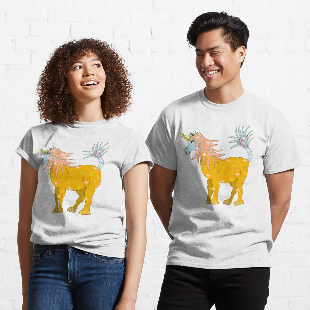 Mystical Magical Unicorn Yellow Classic T-Shirt