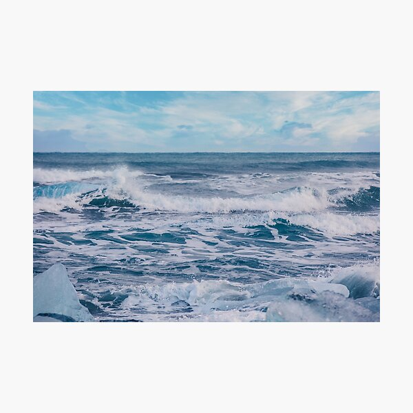 Icy blue Ocean Waves Photographic Print