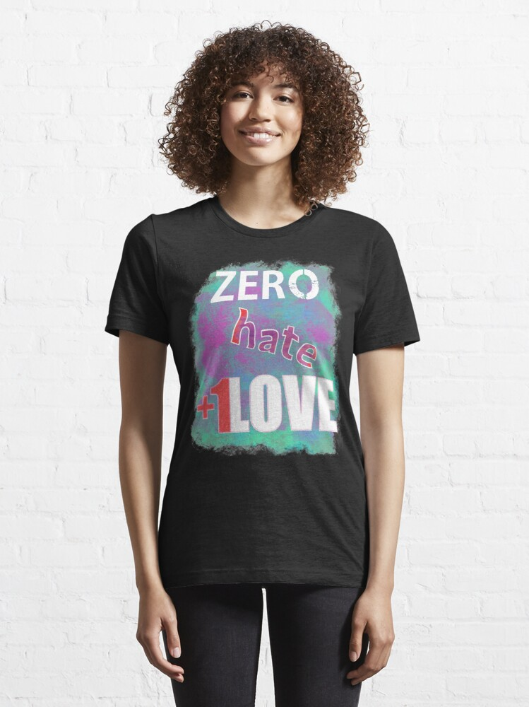 Alternate view of Zero hate +1LOVE pastel goth Essential T-Shirt