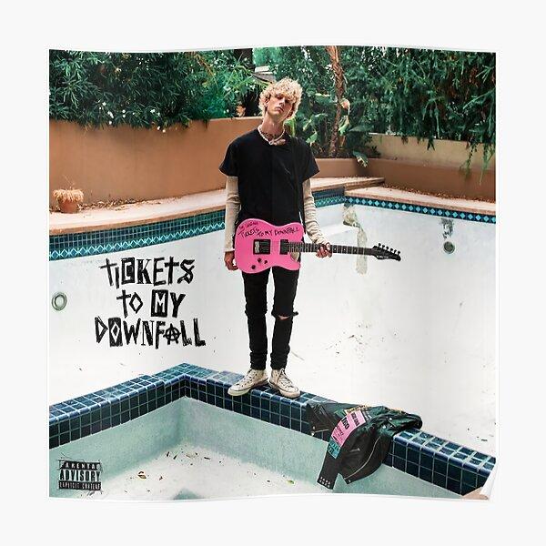 downfoll kellys pink guitar Poster