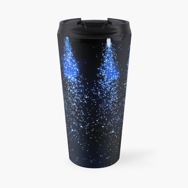 Sparkling blue theatre lights Travel Mug
