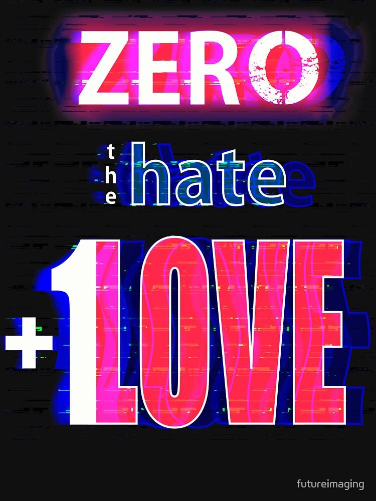 Zero hate +1LOVE with glitch effect by futureimaging