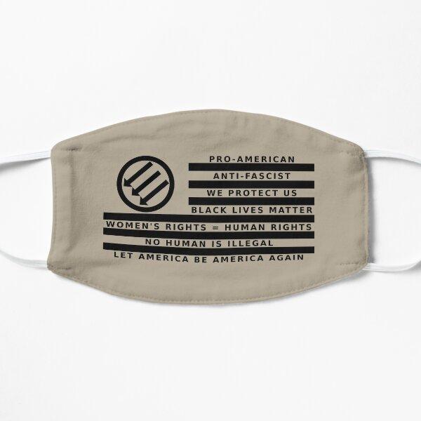 Resistance Is Patriotic, Flag for Light Backgrounds Mask