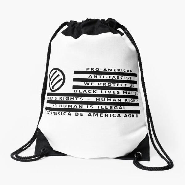 Resistance Is Patriotic, Flag for Light Backgrounds Drawstring Bag
