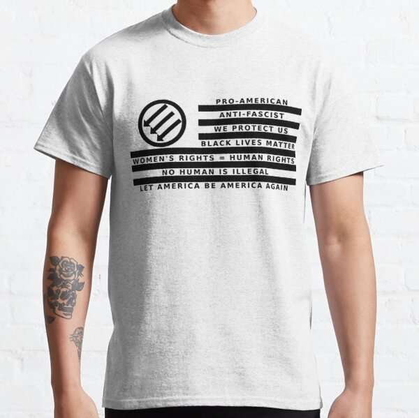 Resistance Is Patriotic, Flag for Light Backgrounds Classic T-Shirt