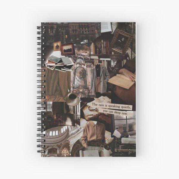 Dark academia collage Spiral Notebook