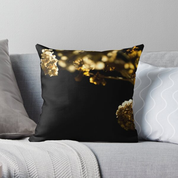 Flowers in the Night Throw Pillow
