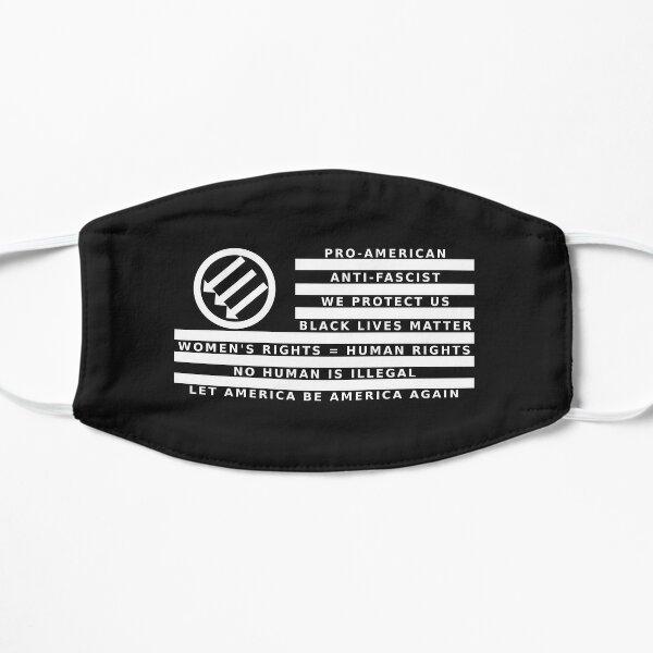 Resistance Is Patriotic, Flag for Dark Backgrounds Flat Mask