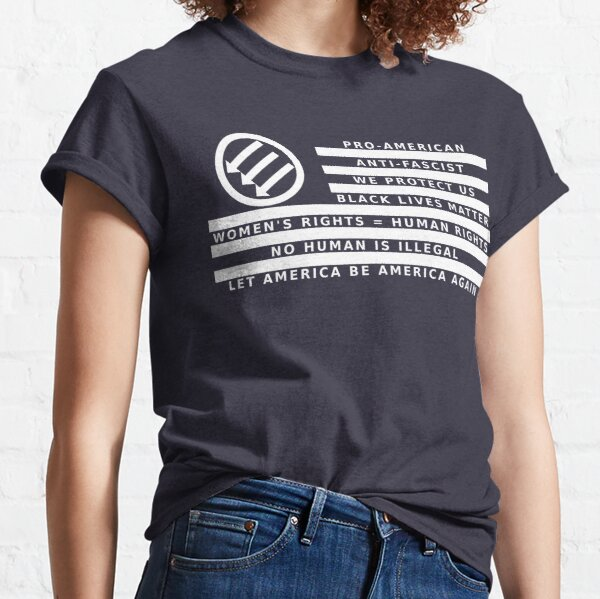 Resistance Is Patriotic, Flag for Dark Backgrounds Classic T-Shirt