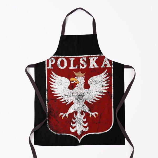 Vintage Polish Eagle, Polish Historic Coat of Arms, Polands Grunge Classic Style Eagle Apron