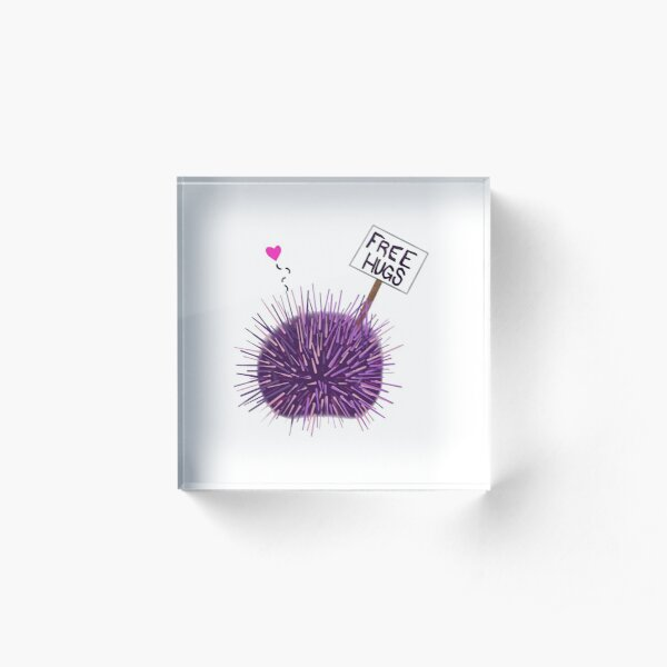 Sea Urchin Hugs Acrylic Block