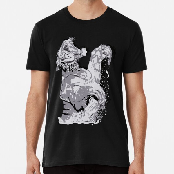 White Tiger Springing out of Water #2 Premium T-Shirt