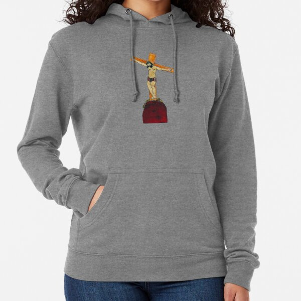 crucifixion of Jesus Christ old hand drawing Lightweight Hoodie