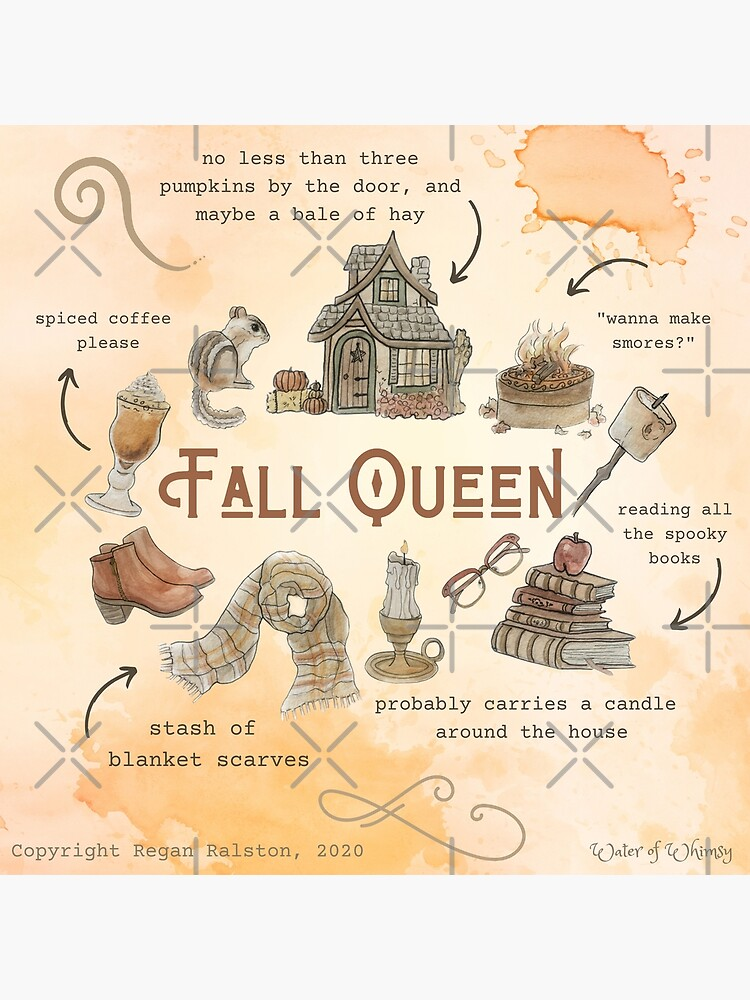 Fall Queen Illustration in Watercolor by WitchofWhimsy