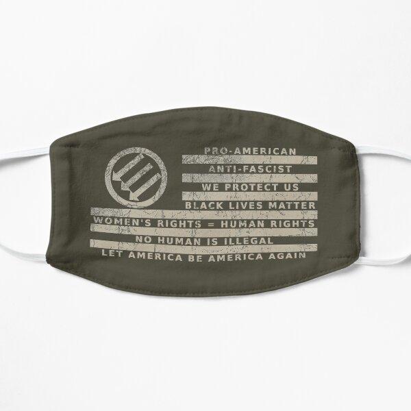 Resistance Is Patriotic, Distressed Low-Profile Flag Mask