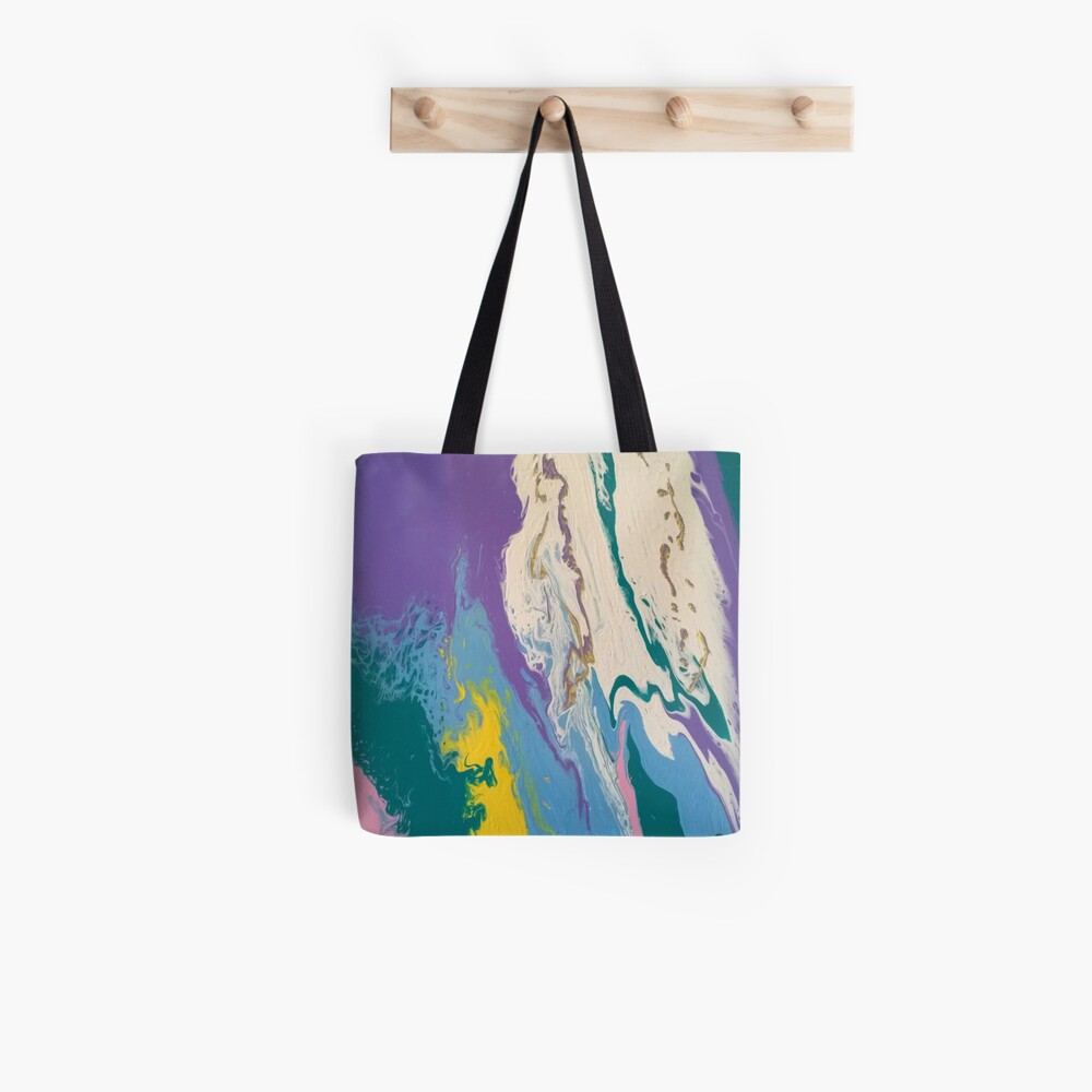 """Abstract Painting- """"South Beach, Art Deco District""""-Hotels on Ocean Drive Tote Bag"""