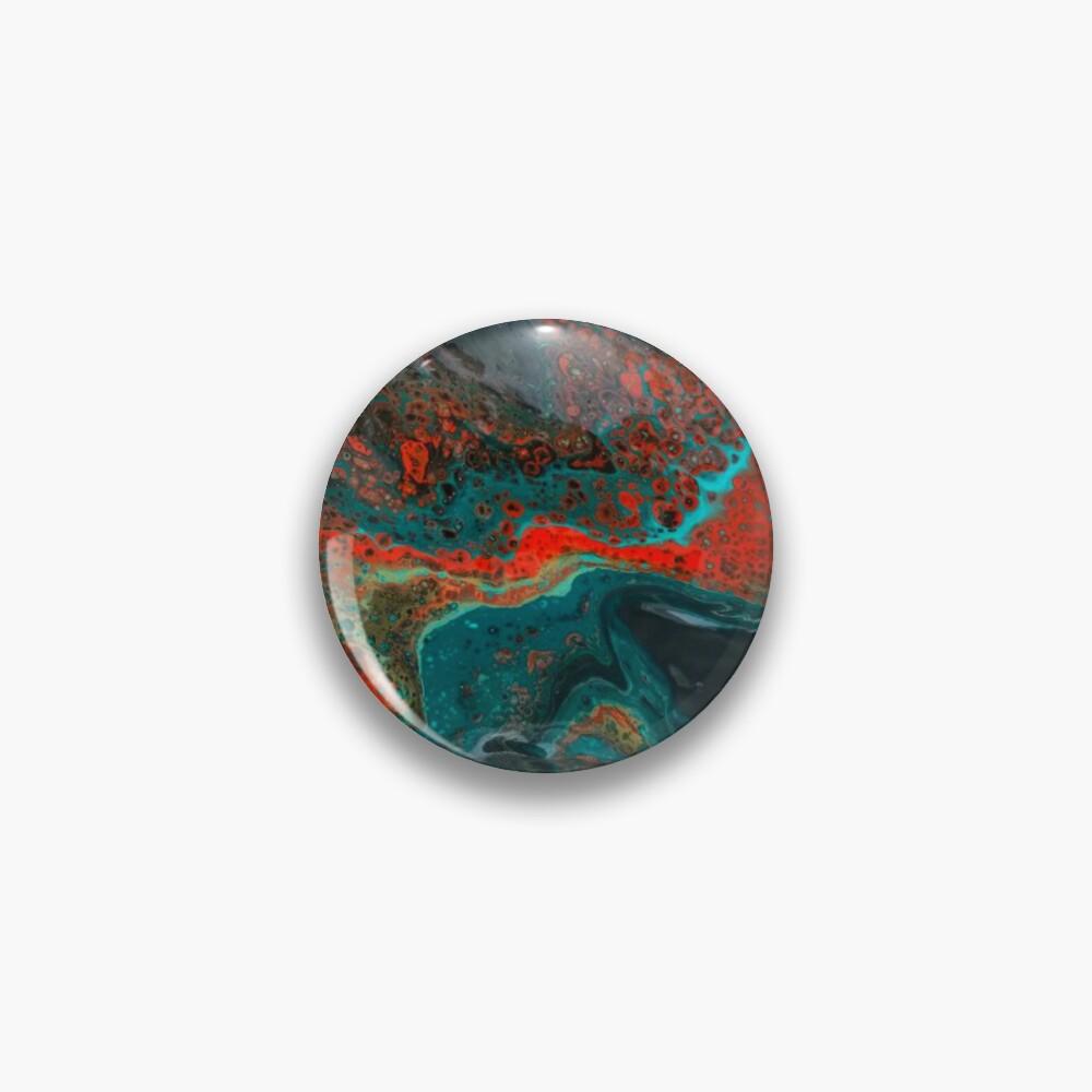 "Abstract Painting-""Sunset in Sedona""-Enchantment Ruins Pin"