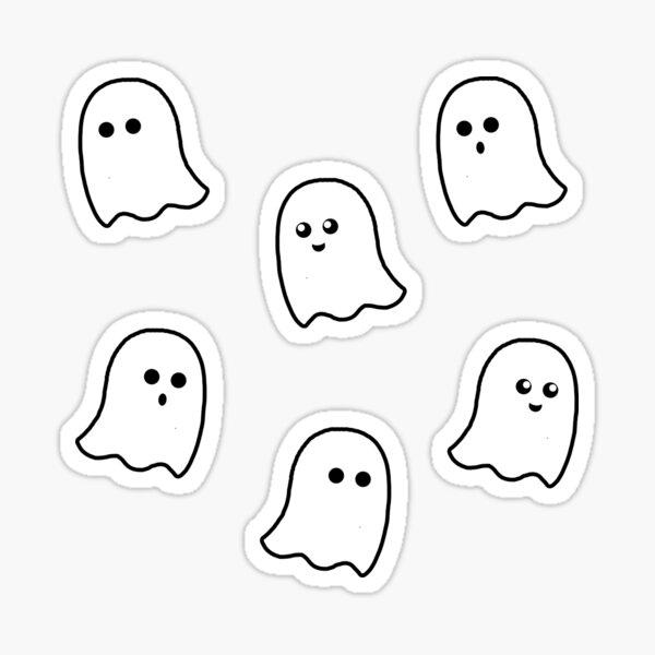 cute ghost sticker pack Sticker