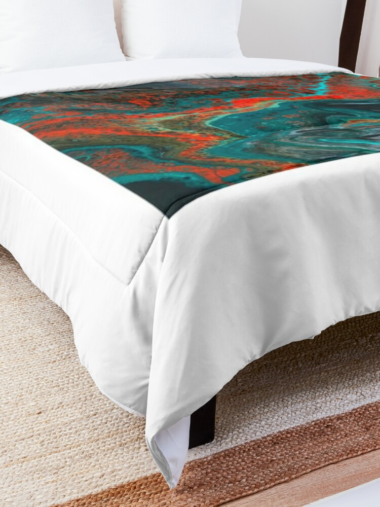 """Alternate view of  Abstract Painting-""""Sunset in Sedona""""-Enchantment Ruins Comforter"""