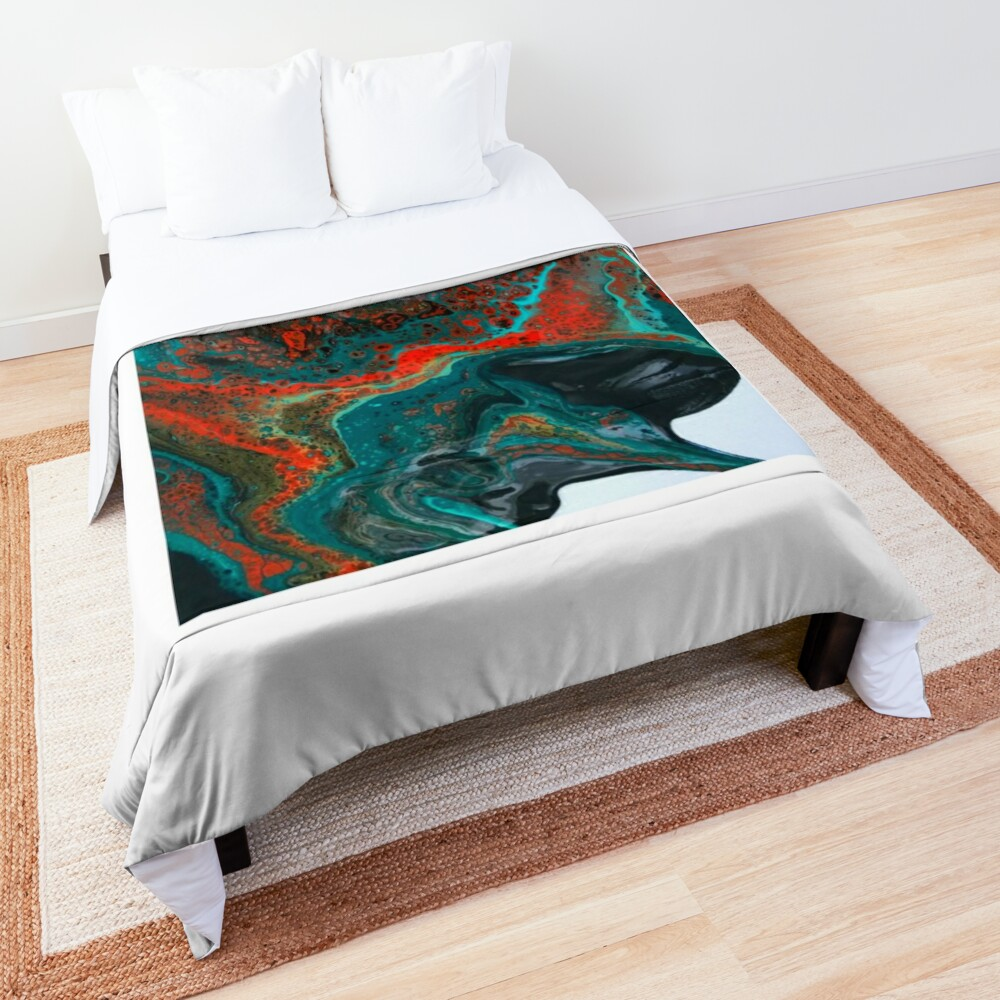 """Abstract Painting-""""Sunset in Sedona""""-Enchantment Ruins Comforter"""