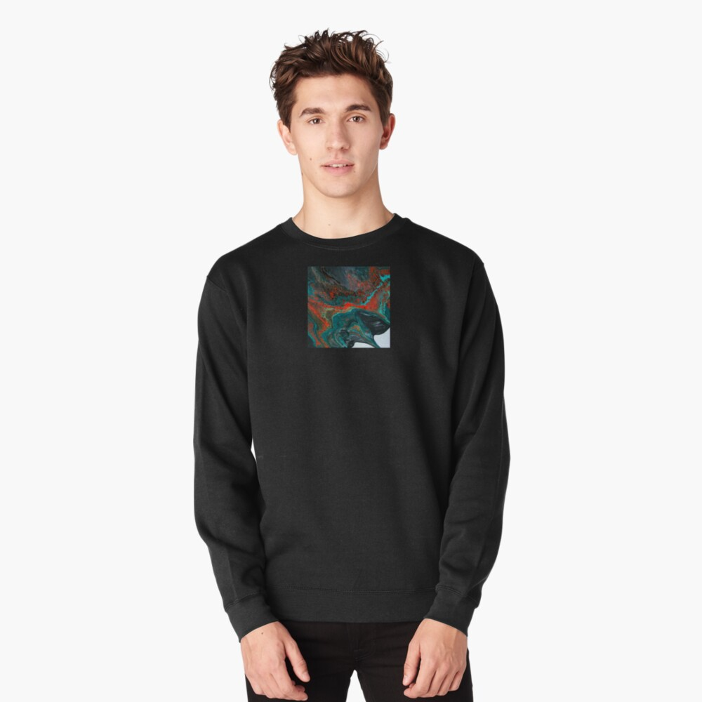 """Abstract Painting-""""Sunset in Sedona""""-Enchantment Ruins Pullover Sweatshirt"""