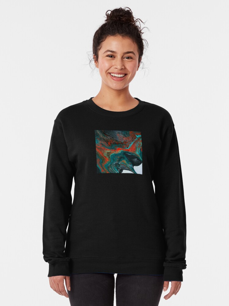 """Alternate view of  Abstract Painting-""""Sunset in Sedona""""-Enchantment Ruins Pullover Sweatshirt"""
