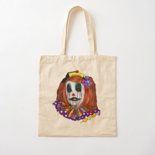 Tesazombie the Clown - Red Hair Variant Cotton Tote Bag