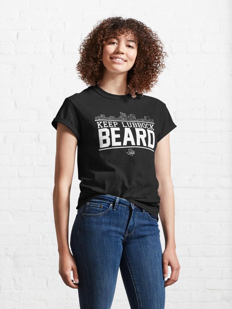 Alternate view of Keep Lubbock Beard Classic T-Shirt