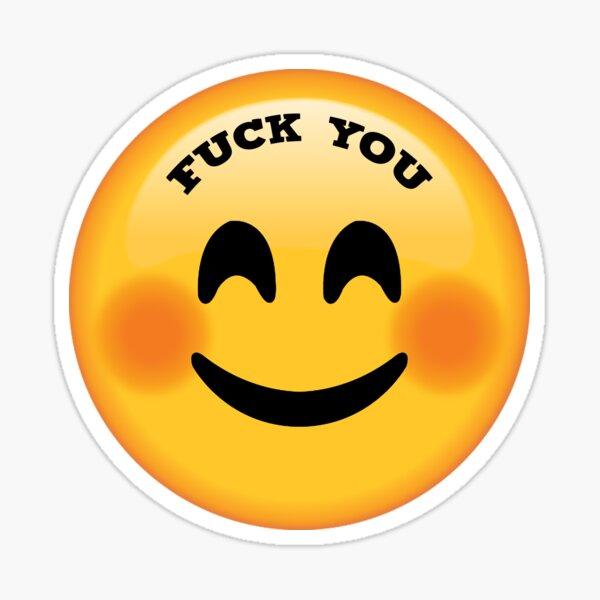 Fuck you emoji face Sticker