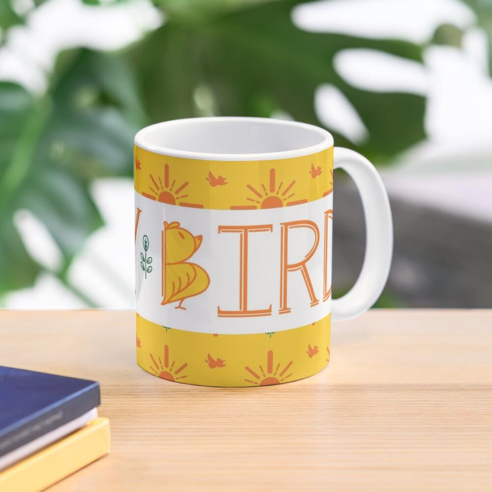 Early Bird Phrase with Main Pattern Mug
