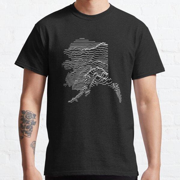 Alaska - Unknown Elevations Topography Joy Plot Ridgeline Map (Without Text) Classic T-Shirt