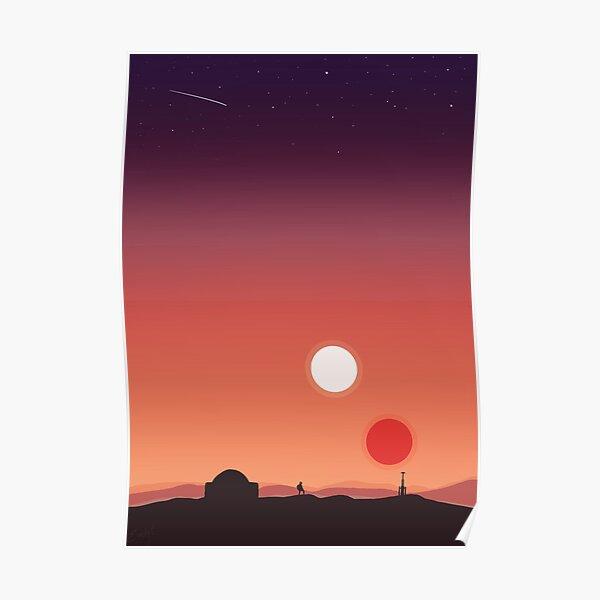 Tatooine Sunset Poster