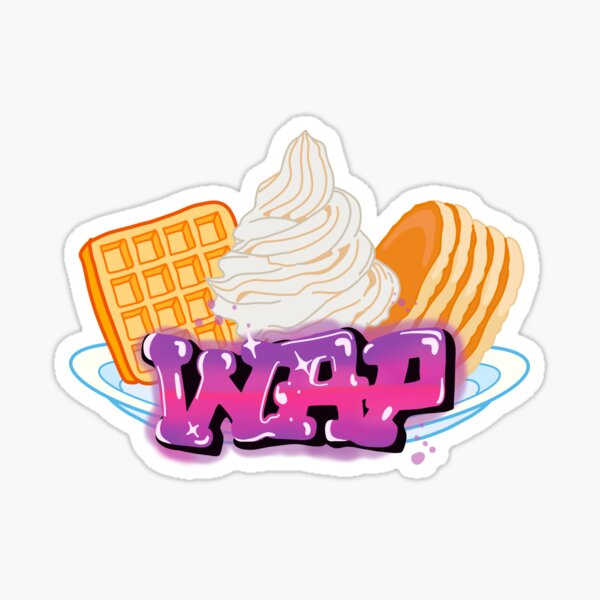 Waffles and Pancakes Glossy Sticker