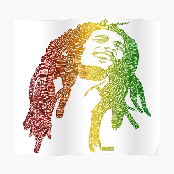 affiche de bob marley, / art bob marley Poster