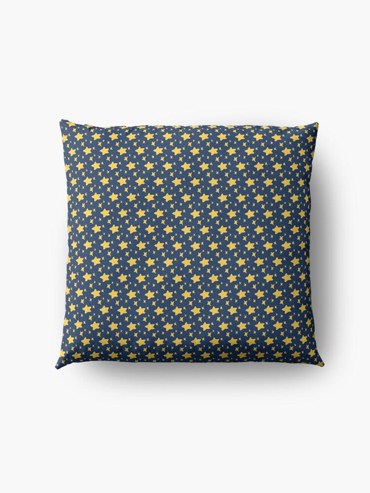 Alternate view of Night Owls, Sub Pattern (Blue Stars) Floor Pillow
